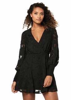findersKEEPERS Women's Midnight Lace Long Sleeve V Neck Mini Dress  XL