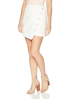 findersKEEPERS Women's Mila Asymmetric Button up Mini Skirt  S