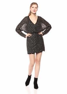 findersKEEPERS Women's Moonlight Sequin DOT Longsleeve Mini Dress  M