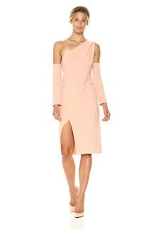 findersKEEPERS Women's One Shoulder Oblivion Long Sleeve Midi Dress  M
