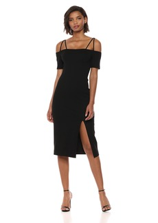 findersKEEPERS Women's Palms Cold Shoulder Midi Dress with Slit  S