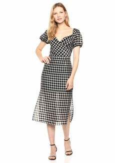 findersKEEPERS Women's Picnic Wrap Top Retro Midi Sheath Dress  M
