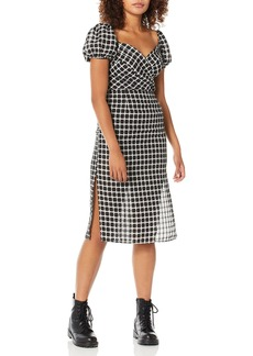 findersKEEPERS Women's Picnic Wrap Top Retro Midi Sheath Dress  M