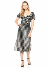 findersKEEPERS Women's Picnic Wrap Top Retro Midi Sheath Dress