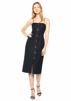 findersKEEPERS Women's Rae Sleeveless Hardware Detail Midi Sheath Dress  S