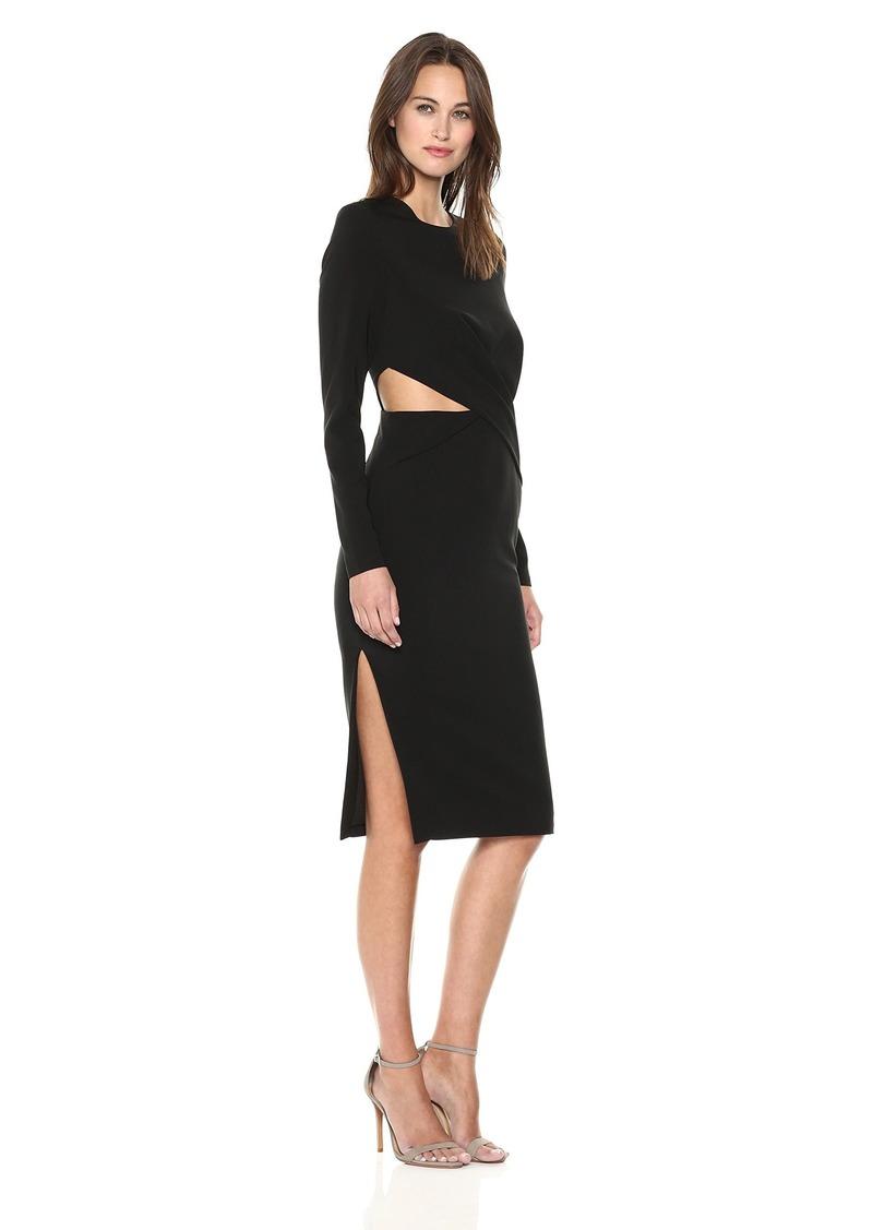 findersKEEPERS Women's  Revolution Long Sleeve Cut Out Sheath Dress  S