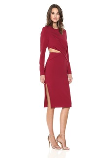 findersKEEPERS Women's Revolution Long Sleeve Cut Out Sheath Dress  M