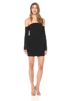 findersKEEPERS Women's Revolution Strapless Long Sleeve Pleated Mini Dress  XS