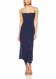 findersKEEPERS Women's Secrets Sleeveless MIDI Slip Dress Navy spot M