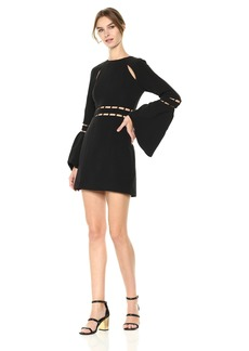 findersKEEPERS Women's Solar Bell Sleeve Mini Dress