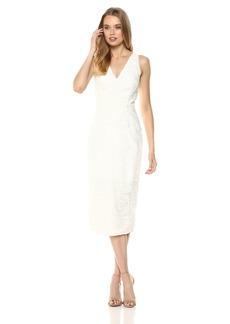 findersKEEPERS Women's Spectrum LACE V Sleeveless MIDI Dress  S