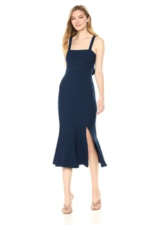 findersKEEPERS Women's Tribute Sleeveless Flare MIDI Dress with Slit  M