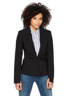 findersKEEPERS Women's Vapours Tie Front Long Sleeve Tailored Blazer  M