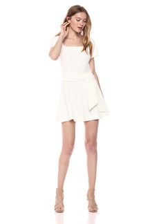 findersKEEPERS Women's VICE Short SLEEE FIT and FLAIRE Mini Dress with Waist  M