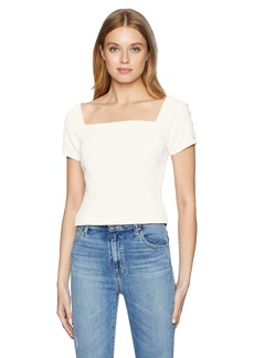 findersKEEPERS Women's VICE Square Neck Short Sleeve TOP  M
