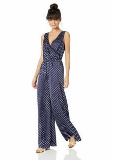 findersKEEPERS Women's Whisper Wide Leg Sleeveless WRAP Jumpsuit Navy spot m