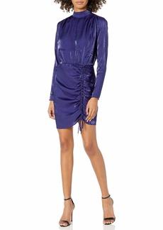 findersKEEPERS Women's Yasmine Long Sleeve Adjustable Mini Dress  m
