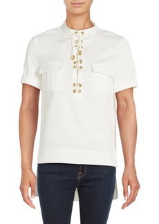 findersKEEPERS Great Heights Lace-Up Placket Shirt