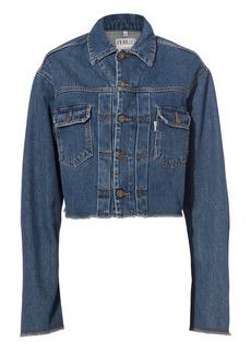Fiorucci Berty Angel Patch Cropped Denim Jacket