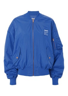 Fiorucci Cargo Pocket Logo Blue Bomber Jacket