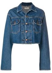 Fiorucci cherub print denim jacket