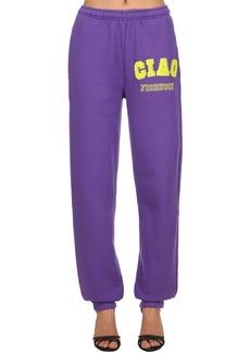 Fiorucci Ciao Printed Cotton Sweatpants