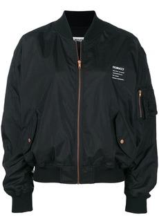 Fiorucci back print logo bomber jacket - Black