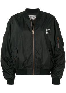 Fiorucci logo appliqué bomber jacket - Black