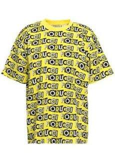 Fiorucci Woman Printed Cotton-jersey T-shirt Yellow