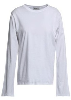 Fiorucci Woman Printed Cotton-jersey Top White