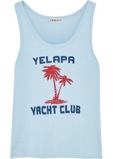 Fiorucci Woman Yelapa Club Printed Cotton-jersey Tank Sky Blue