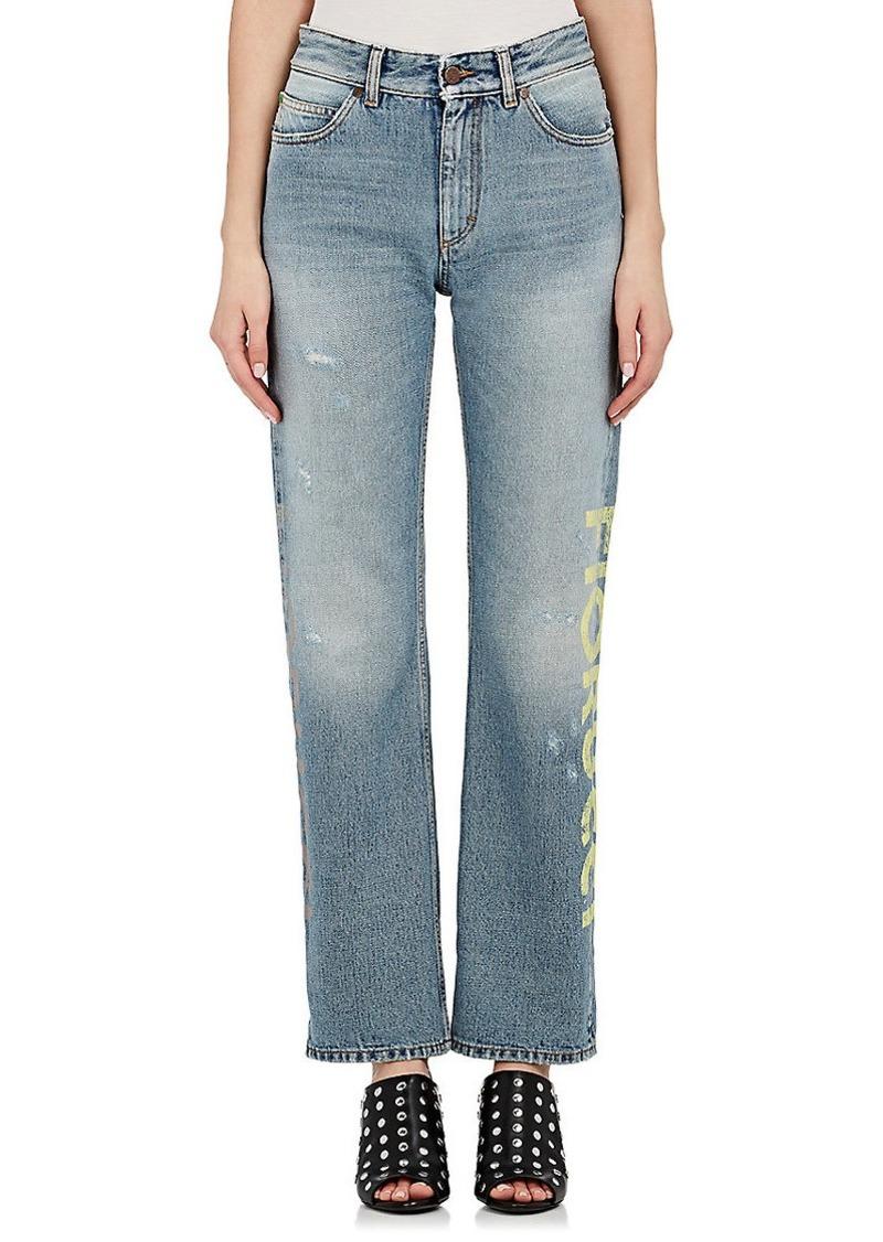 FIORUCCI Women's Bella Logo Straight Crop Jeans