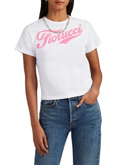 FIORUCCI Women's Soda Cotton Jersey Crop T-Shirt