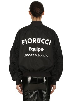 Fiorucci Lou Logo Printed Techno Bomber Jacket