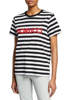 Fiorucci Striped Logo Short-Sleeve Cotton Tee