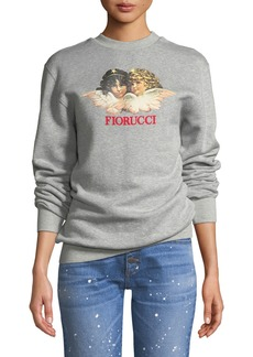 Fiorucci Vintage Angels Logo Pullover Sweatshirt
