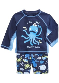 First Impressions 2-Pc. Octopus Rash Guard & Swim Trunks Set, Baby Boys, Created for Macy's