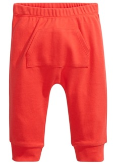 First Impressions Baby Boys & Girls Kangaroo-Pocket Cotton Jogger Pants, Created For Macy's