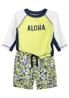 First Impressions Baby Boys 2-Pc. Aloha Rash Guard Set, Created for Macy's