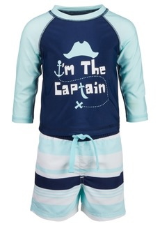 First Impressions Baby Boys 2-Pc. Captain Rash Guard Set, Created for Macy's