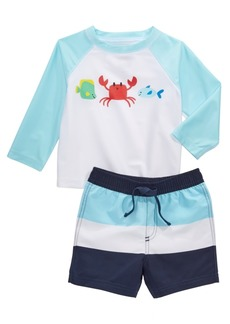 First Impressions Baby Boys 2-Pc. Crab Rash Guard & Swim Trunks Set, Created for Macy's