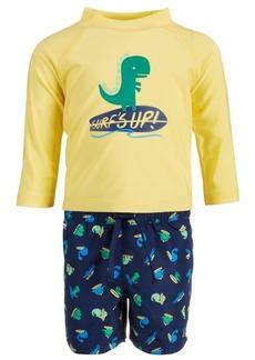 First Impressions Toddler Boys 2-Pc. Dino Rash Guard & Swim Trunks Set, Created for Macy's
