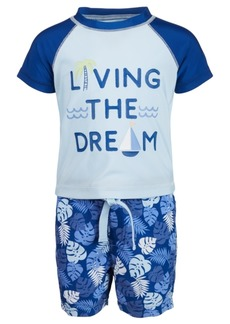 First Impressions Baby Boys 2-Pc. Living the Dream Rash Guard Set, Created for Macy's