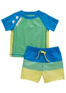 First Impressions Baby Boys 2-Pc. Monster Rash Guard & Swim Trunks Set, Created for Macy's