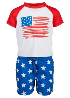 First Impressions Baby Boys 2-Pc. Red, White & Blue Rash Guard Set, Created for Macy's