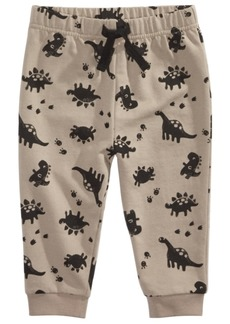 First Impressions Baby Boys Allover Dinosaur Print Jogger Pants, Created For Macy's