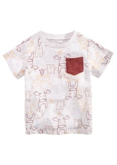 First Impressions Toddler Boys Animal-Print Pocket T-Shirt, Created for Macy's