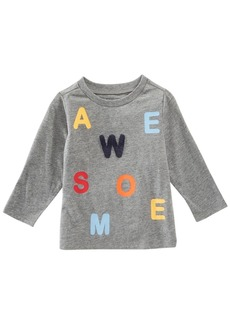 First Impressions Baby Boys Awesome-Print T-Shirt, Created for Macy's