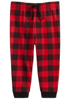 First Impressions Baby Boys Buffalo Check Jogger Pants, Created For Macy's