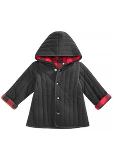 First Impressions Baby Boys Buffalo Plaid Reversible Cotton Jacket, Created for Macy's